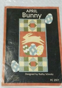 Four Corners Designs- APRIL BUNNY-EASTER Sewing Pattern by Kathy Schmitz FC2517