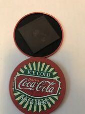 """COCA-COLA MAGNET """"ICE COLD SOLD HERE"""" USED, 2.5"""" ROUND"""