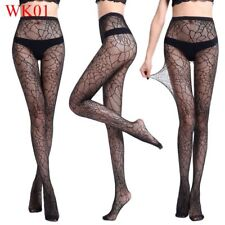 Sexy Women Black Lace Top Mesh Thigh-Highs Leggings Stockings Garter Belt Socks