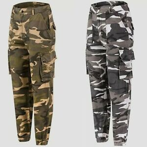 Ladies Trousers Cargo Combat Style Regular Fit Sizes 6 To 20 Ex High Street Item