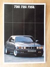 BMW 7 SERIES orig 1987 1988 UK Mkt Prestige Sales Brochure - 730i 735i 735iL