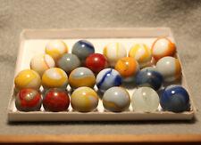 Vintage Marbles, Peltier Marbles, Lot of 21 UV Glass Peltier Rainbos