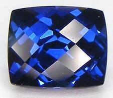 7.56CT. EXCELLENT CUSHION CHECKER CUT 11.9x10 MM. BLUE SAPPHIRE LAB CORUNDUM
