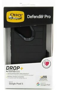 Otterbox Defender Pro Series Case With Holster Clip For Google Pixel 5 Black