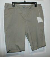 NWT J. JILL Chino Women's Bermuda Shorts Cotton Size 16
