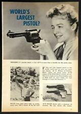 "Colt .45-70 1962 ""World's Largest Pistol"" pictorial R.G. Wilson Peacemaker"