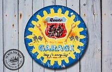 Route 66 Garaje Letrero De Metal, coches, American, gas, Clásico, decoración de garaje, 959