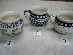 Polish Pottery, Bolesławiec, Pot Belly/Bubble, Mug, 12 Oz.