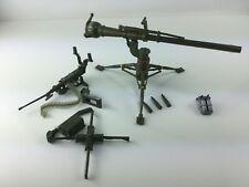 Vintage Green Plastic Army Cannon On Tripod Gun Machine gun Gi Joe Marx weapons