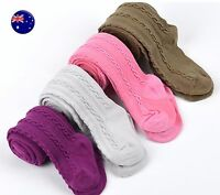 Girl Baby Kid Infant Cotton Mix Braided Bottoms Pantyhose Tights Stockings 0-18m