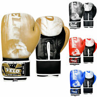 VELO Boxing Gloves Training Punch Bag Muay Thai Sparring Mitts Fight Kickboxing