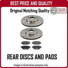 REAR DISCS AND PADS FOR OPEL ASTRA COUPE 2.0 16V TURBO 7/2000-11/2004