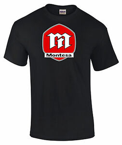 Montesa  Style  Motorcycle Printed T Shirt in 6 Sizes