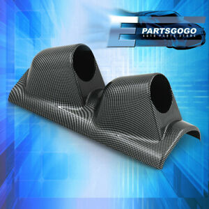 For Volvo 52MM Performance Dual Pillar Gauge Monitor Pod Mount Carbon Fiber JDM