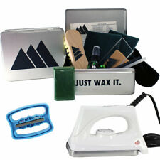 Ski Snowboard Tuning Full Service Kit Universal Lime Wax, Edge & Iron