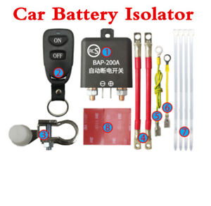 Car Battery Switch Wireless Remote Control Disconnect Master Kill System 12V