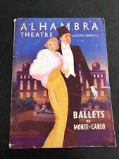 More details for 1930s programme - alhambra theatre leicester square . ballets de monte - carlo