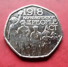 2018 UK 50p coin : The Representation of the People Act - Coin hunt .