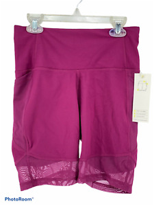 """All In Motion Athletic Shorts Womens Sz Small High Rise 7"""" Pink Purple Contour"""