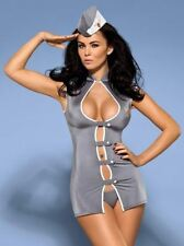 Tenue Stewardess Hotesse de l'air Obsessive - L-XL - Costumes / Deguisements - O