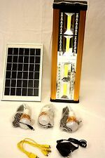 Solar 30W Home System Kit Night Market Outdoor Light Phone USB Charging Battery