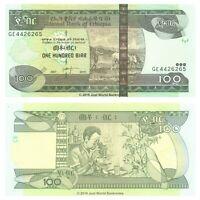 Ethiopia 100 Birr 2015 P-52g Banknotes UNC