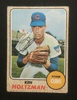Ken Holtzman Cubs signed 1968 Topps baseball card #60 Auto Autograph