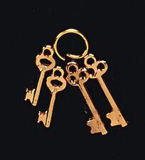 Escala 1/12TH casa de muñecas juego de 4 llaves de latón