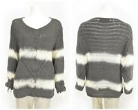 Womens Bottega by Elisa Cavaletti Oversized Knit Sweater Jumper Grey Size M
