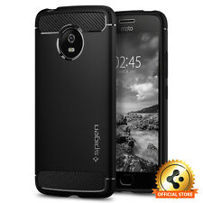 Spigen® Motorola G5 [Rugged Armor] Protective Shockproof Black TPU Case Cover
