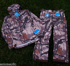 $798 NEW Columbia Pants Jacket Medium M Mossy Oak Camouflage Waterproof Hunting