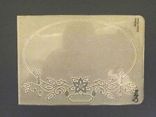 Sizzix Large Embossing Folder FRAME OVAL CHRISTMAS HOLLY fits Cuttlebug & Wizard