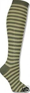 K.Bell Green Stripe Soft and Dreamy Knee High Socks Ladies New