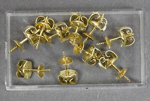 10 x Ohrstecker goldfarben Konvolut ungebraucht a Uhrmacherwerkstatt