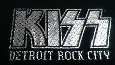 KISS Detroit Rock City  Winterland 2005 Silver Logo Black T-Shirt Medium