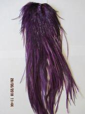 metz saddle purple saddle grade 2  flytying hair feathers