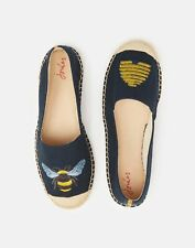 Joules Womens Shelbury Womens's Embroidered Espadrilles - NAVY BEEHIVE