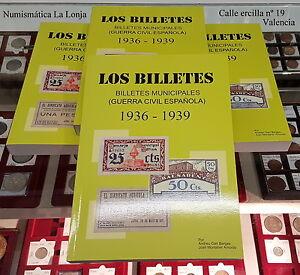 B-D-M Nueva edición 2017 Billetes Locales Municipales Guerra Civil 1936-1939