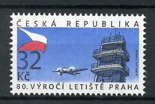 République tchèque 2017 neuf sans charnière Prague Airport 80th Anniv 1 V Set aviation timbres