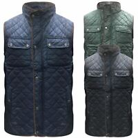New Men Country Quilted Waistcoat Warm Shooting Hunting Gilet Bodywarmer S-XXL
