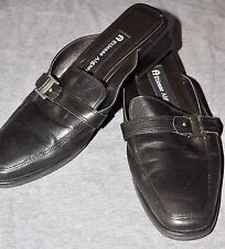 r- SHOES WOMENS SZ 6 CLOGS MULES BLACK  by ETIENE AGNER  LEATHER UPPERS