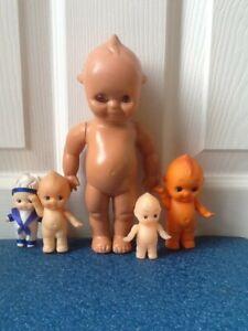 Vintage kewpie dolls x 5 - hard and soft plastic
