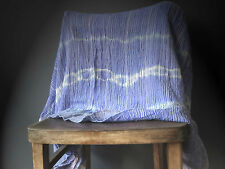 Purple Blue Vegan Acrylic Loose Knit Tie Dye Throw Buy 3+ items for FREE Postage