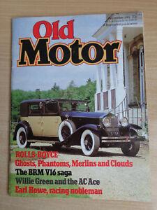 Old Motor Magazine Sept 1981 - BRN V16,Buick Skylark,Mosquito Merlin Engine