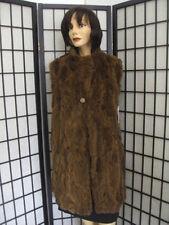 MINT CANADIAN BROWN LAMB W/ CLOTH FUR VEST COAT JACKET WOMEN WOMAN SZ8-10 MEDIUM
