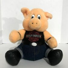 Harley Davidson Pig Hog Novelty VTG 1993 Motorcycle Biker Plush Stuffed Animal