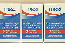 Mead 45210 Memo Book Refill Paper Pads for Mead 45890 Memo Book 3 packs, 6 pads