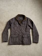 Womens Barbour Light Weight Quilted Jacket Brown Size 12