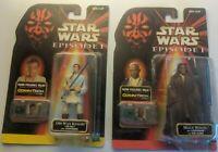 "Star Wars Episode 1 Jedi Lot Obi-Wan Kenobi Mace Windu 3.75"" CommTech Chip TPM"