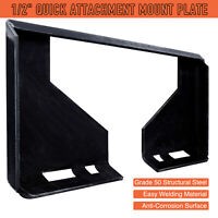 "1/2"" Quick Attachment Mount Plate for Kubota Bobcat Skid Steer Grade 50 Steel"